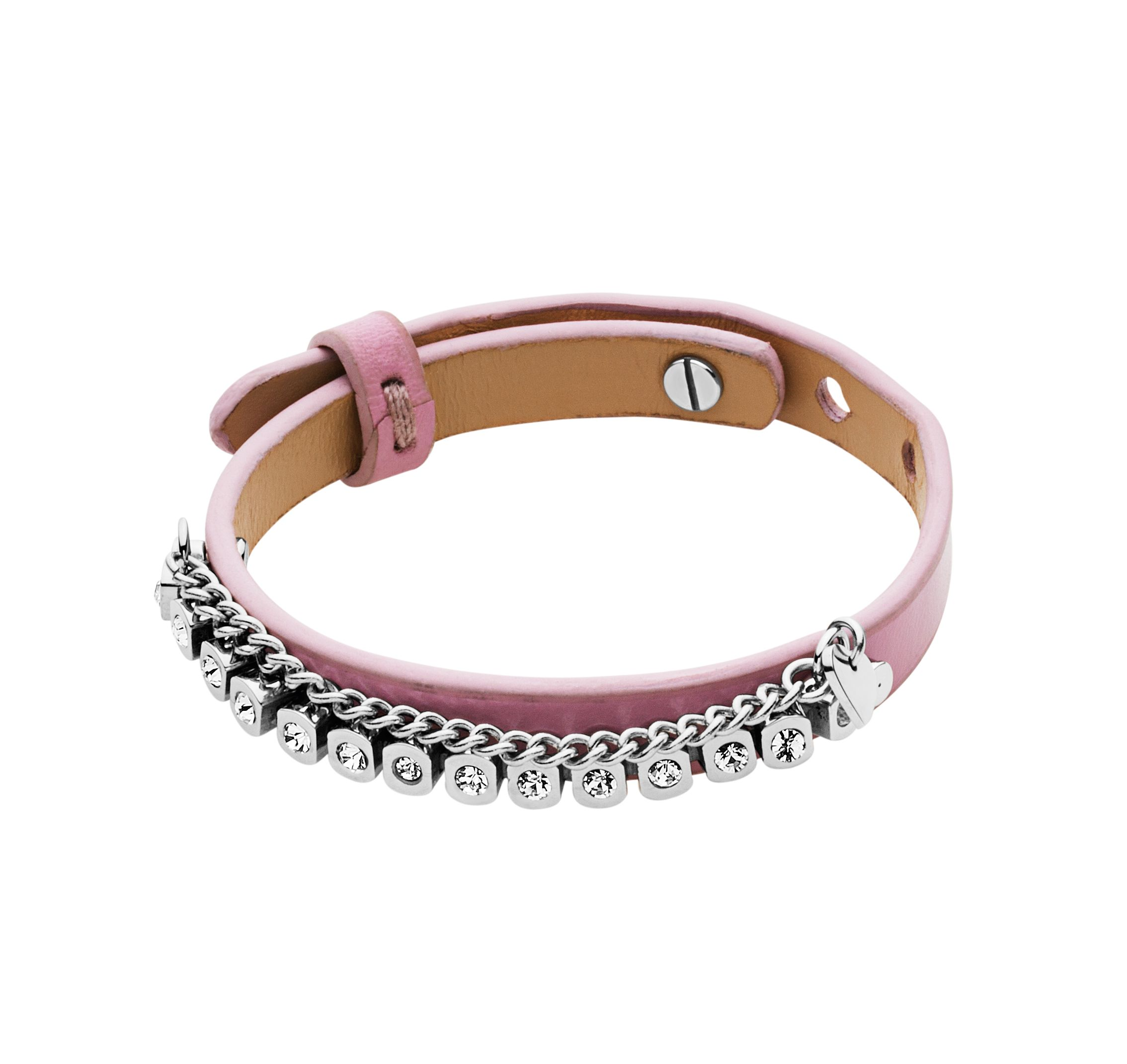 Titania rose leather bracelet