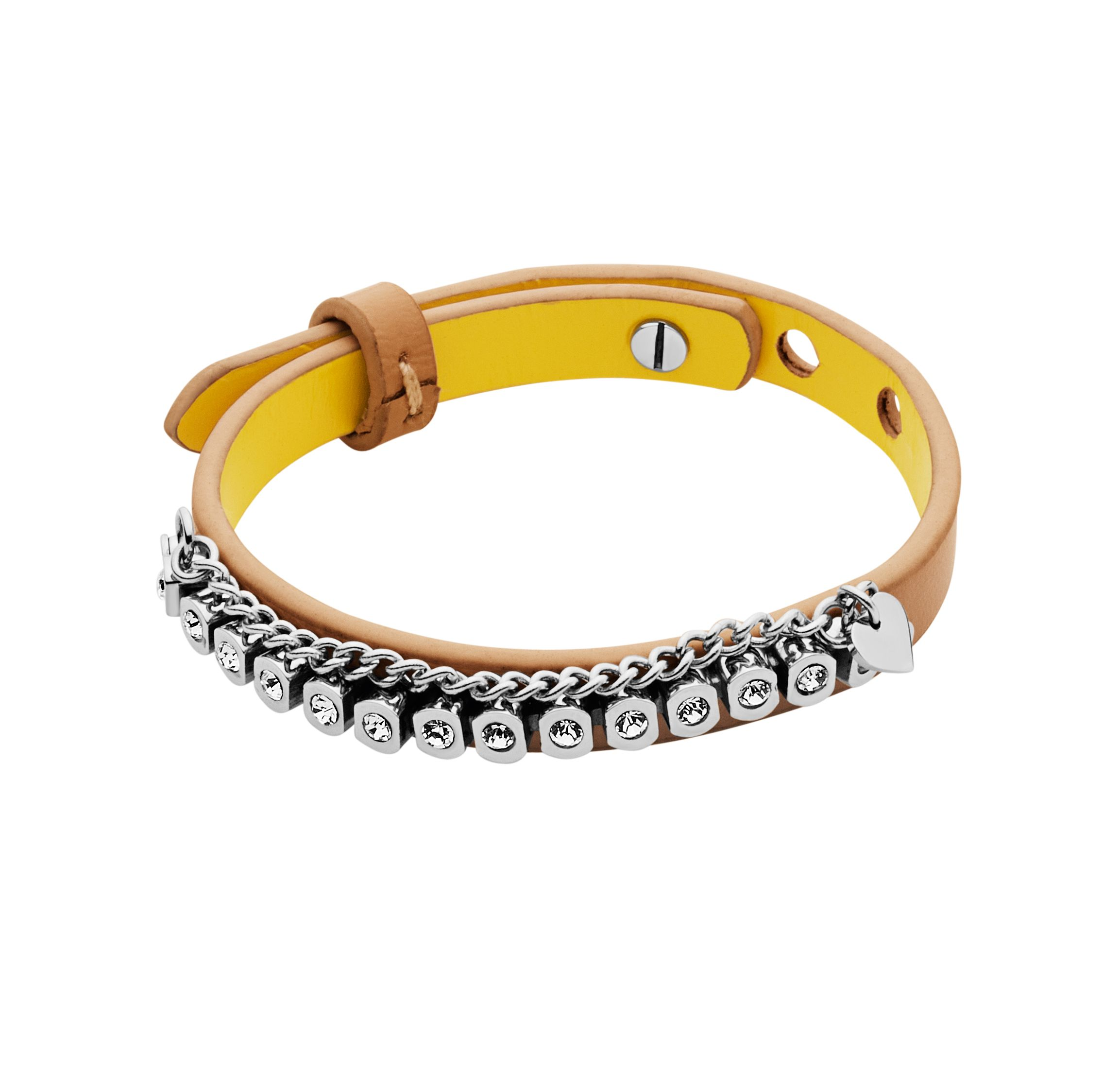 Titania sand leather bracelet