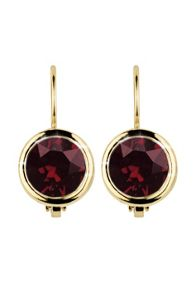 Louise solitaire earrings