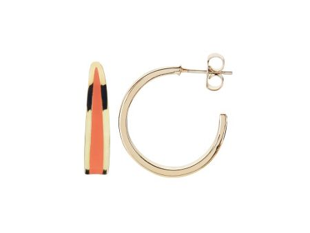 Dyrberg Kern Artzy Hoop Earpost Earrings