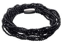 Triple wrap stone black onyx facetted