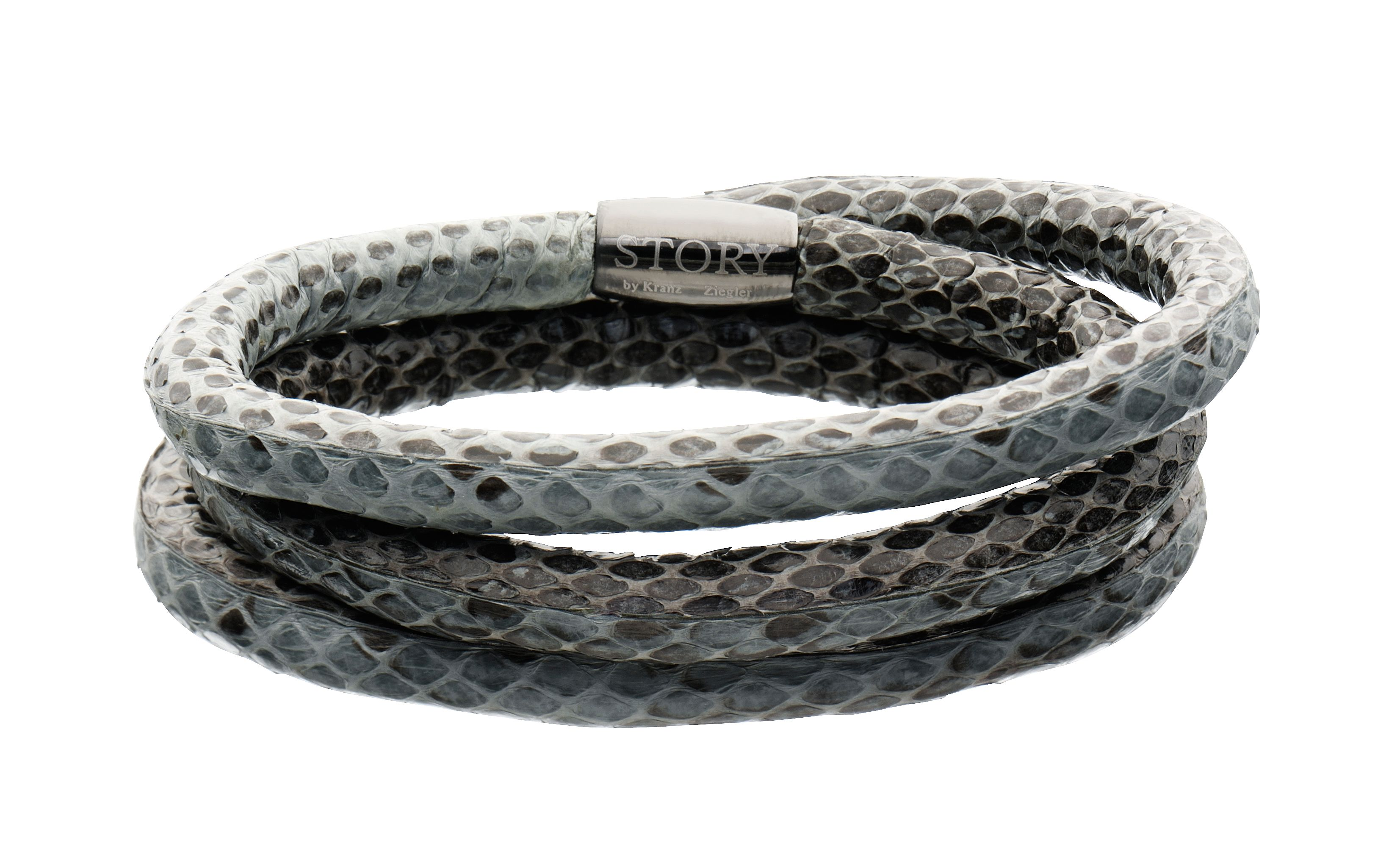 Triple wrap snakeskin grey