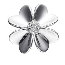 Oversized Silver Flower Charm