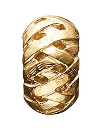 Silver Gold Plated Brushed Metal Charm