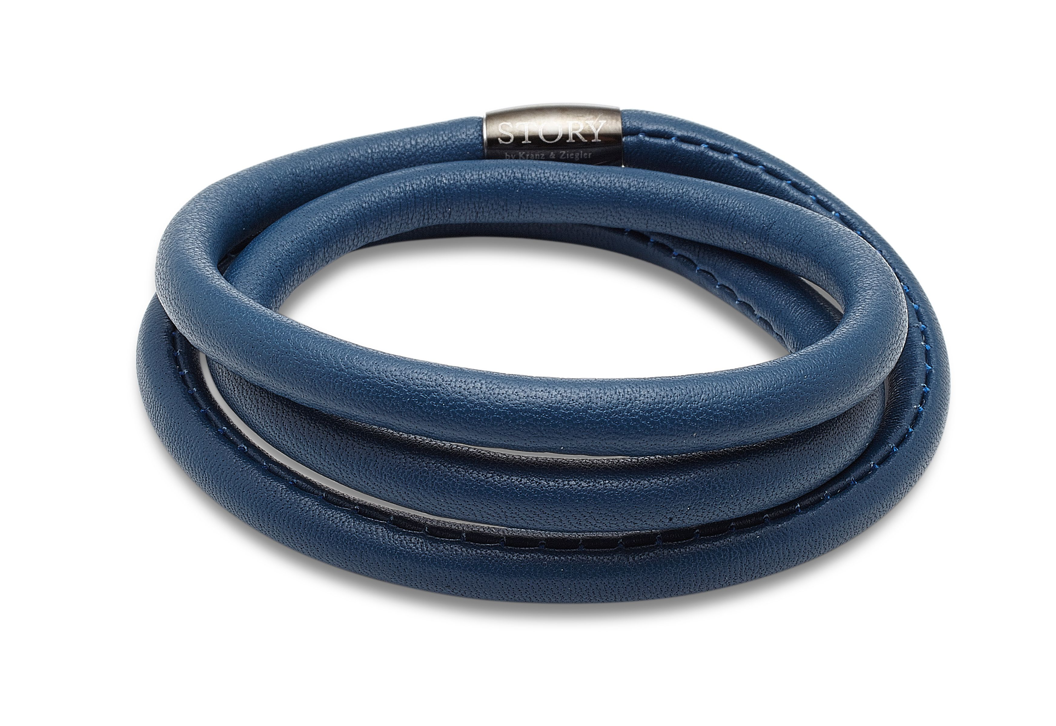 Triple wrap lambskin petrol blue