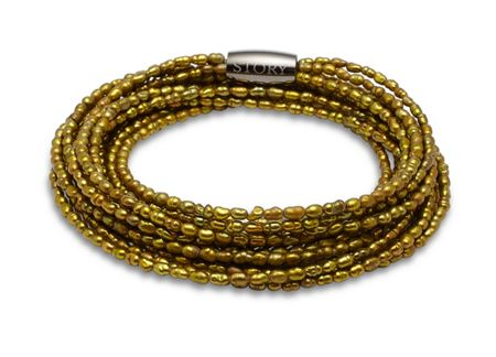 Story Triple wrap stone olive pearl