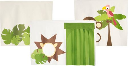 Flexa Jungle play curtains. Set of 3