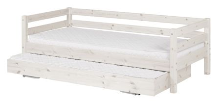 Flexa CLASSIC bed with pullout bed. Full length rail. W