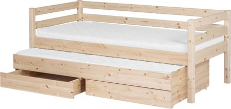 Flexa CLASSIC bed with drawers & pullout bed. Full leng