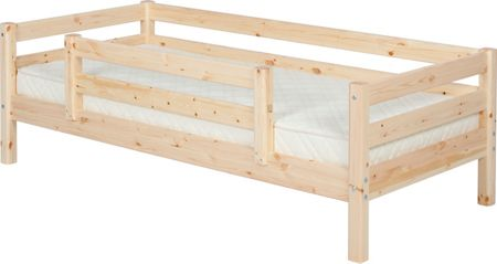 Flexa CLASSIC bed with double entry Safety Rail. Pine