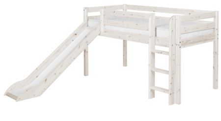 Flexa CLASSIC Single mid high bed with straight ladder