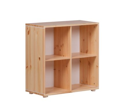 Flexa CLASSIC bookcase with 4 compartments. Pine