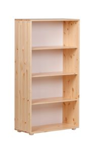 Flexa CLASSIC bookcase with 3 shelves. Pine
