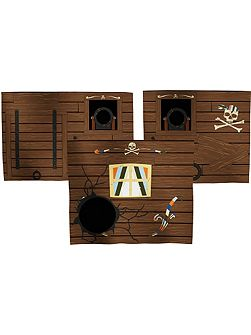 Pirate play curtains. Set of 3