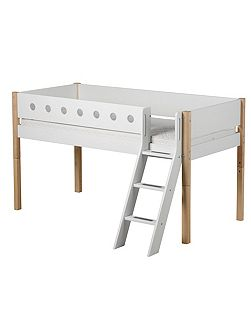 WHITE mid-high, slanting ladder