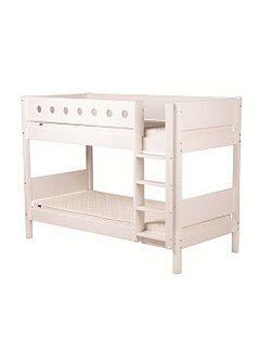 WHITE bunk bed, birch legs
