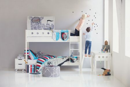 Flexa WHITE bunk bed, birch legs
