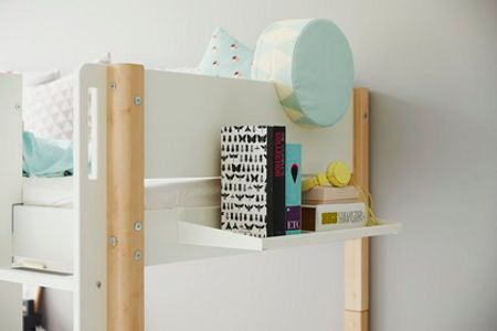Flexa WHITE hanging shelf for bed