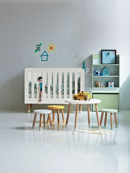 Flexa PLAY table in Yellow, Ash and MDF