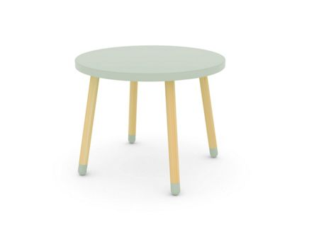 Flexa PLAY table in Green, Ash and MDF