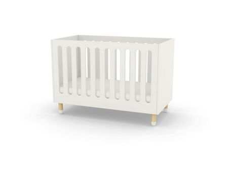 Flexa PLAY Cotbed in White, Ash & MDF