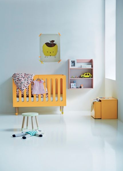 Flexa PLAY Cotbed in Pink, Ash & MDF