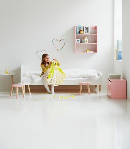 Flexa PLAY bed in White, Ash and MDF