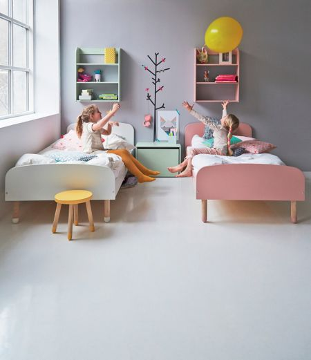 Flexa PLAY bed in Pink, Ash and MDF