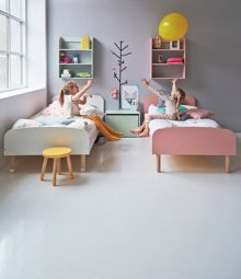 Flexa PLAY bed in Yellow, Ash and MDF