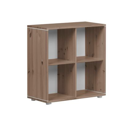Flexa CLASSIC bookcase with 4 compartments. Terra
