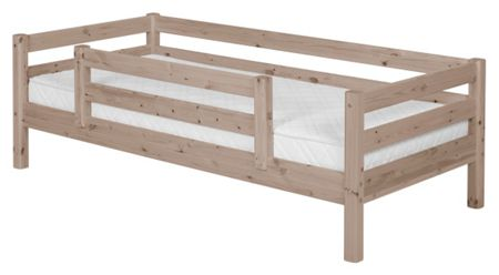 Flexa CLASSIC bed with double entry Safety Rail. Terra