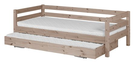 Flexa CLASSIC bed with pullout bed. Full length rail. T
