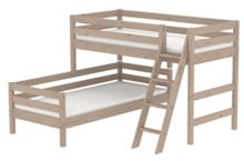 Flexa CLASSIC semi high offset bunk bed with slanted la