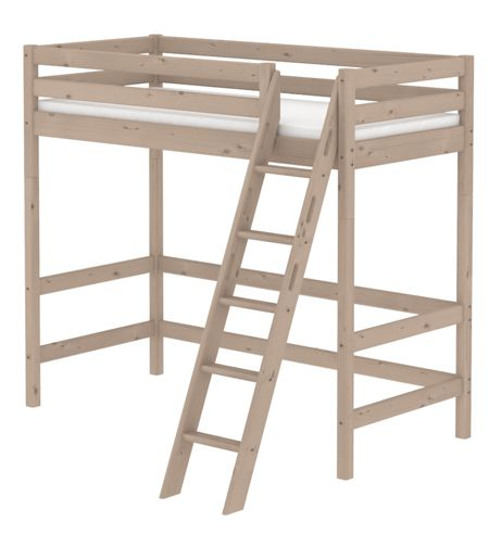 Flexa CLASSIC high bed with slanted ladder. Terra
