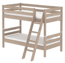Flexa CLASSIC bunk bed with slanted ladder. Terra