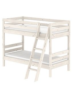 Classic Whitewash Bunk Bed with Ladder