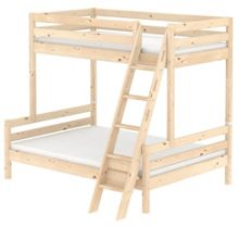 Flexa CLASSIC bunk bed with double under. Pine