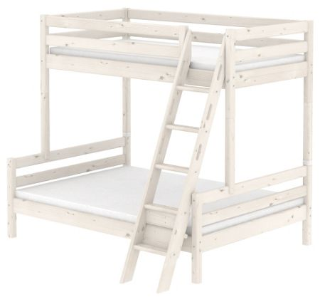 Flexa CLASSIC bunk bed with double under. Whitewash