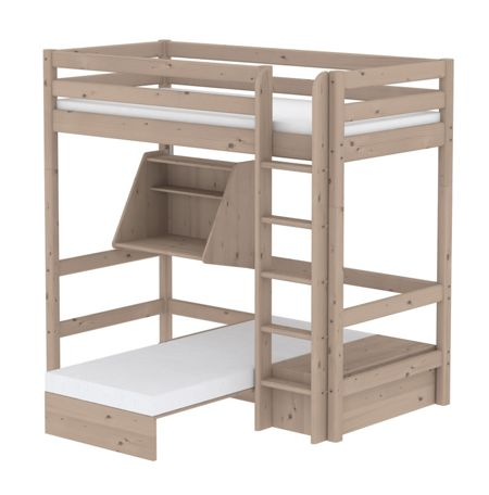 Flexa CLASSIC Casa bed with straight ladder with Desk a