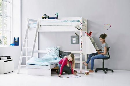 Flexa Classic Casa Bed with Ladder and Desk