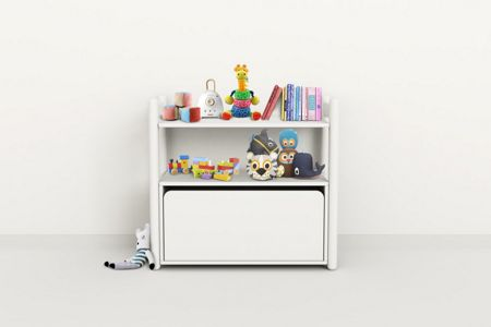 Flexa SHELFIE Mini B Chest Poles Solid White