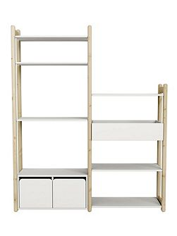 Sheflie Clear Lacquer Combination Storage Unit