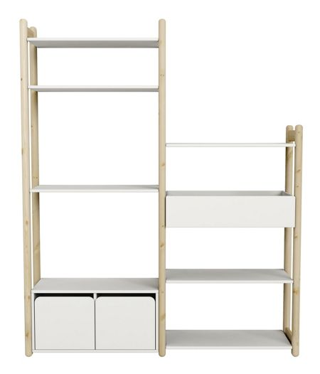 Flexa Sheflie Clear Lacquer Combination Storage Unit