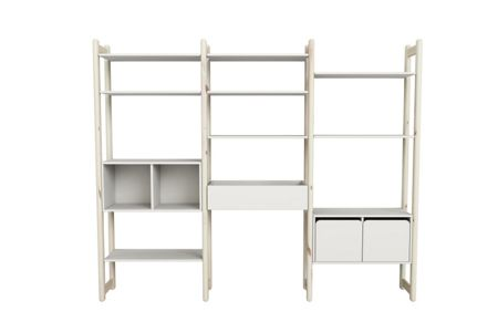 Flexa SHELFIE Combi 7 Poles Whitewash