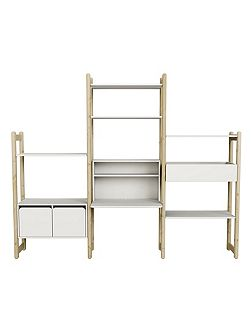 Shelfie Clear Lacquer Combination Storage Unit