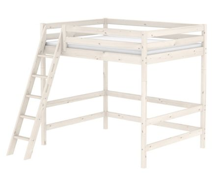 Flexa Classic High White Double Bed with Ladder
