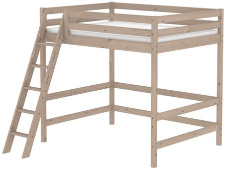 Flexa CLASSIC double high bed with slanted ladder. Terr