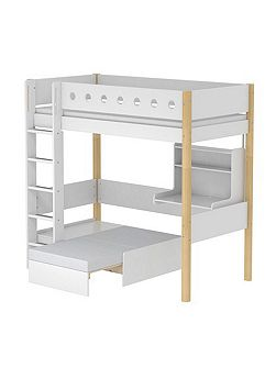 WHITE casa high bed, birch legs