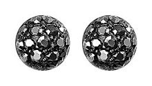 Pilgrim Hematite classic grey crystal earrings