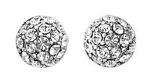 Pilgrim Silver plated classic crystal earrings